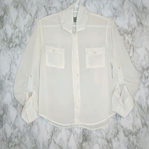 SWS Sheer Button Up Blouse